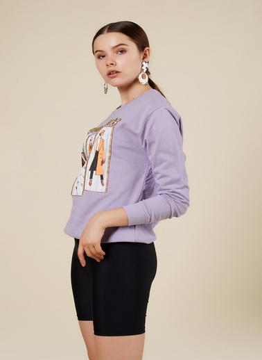 Coral Sweatshirt Lila